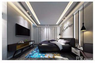 现代混搭风格三居卧室装修效果图