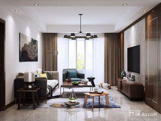 120㎡三居现代简约客厅装修效果图