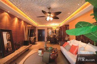 東南亞風格大戶型裝修客廳效果圖