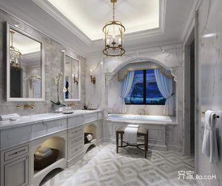 法式古典风格别墅卫生间装修效果图