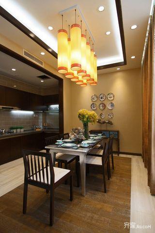 110平新中式三居餐厅装修效果图