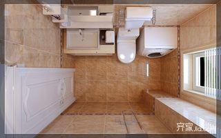 美式风格两居室卫生间装修效果图