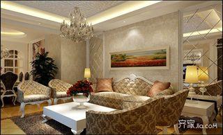 160平欧式风格三居装修效果图