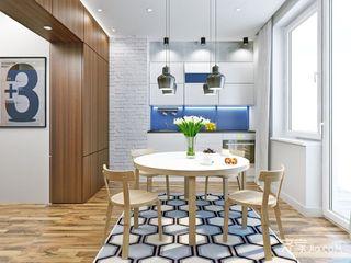 小户型一居公寓厨餐厅装修效果图