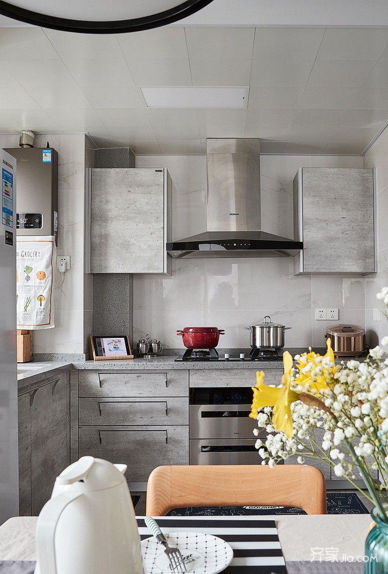 100㎡简约风三居厨房装修设计图