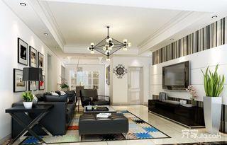 现代风格四居室客厅装修效果图