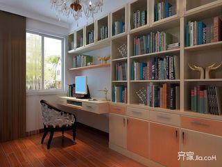 现代风格四居室书房装修效果图