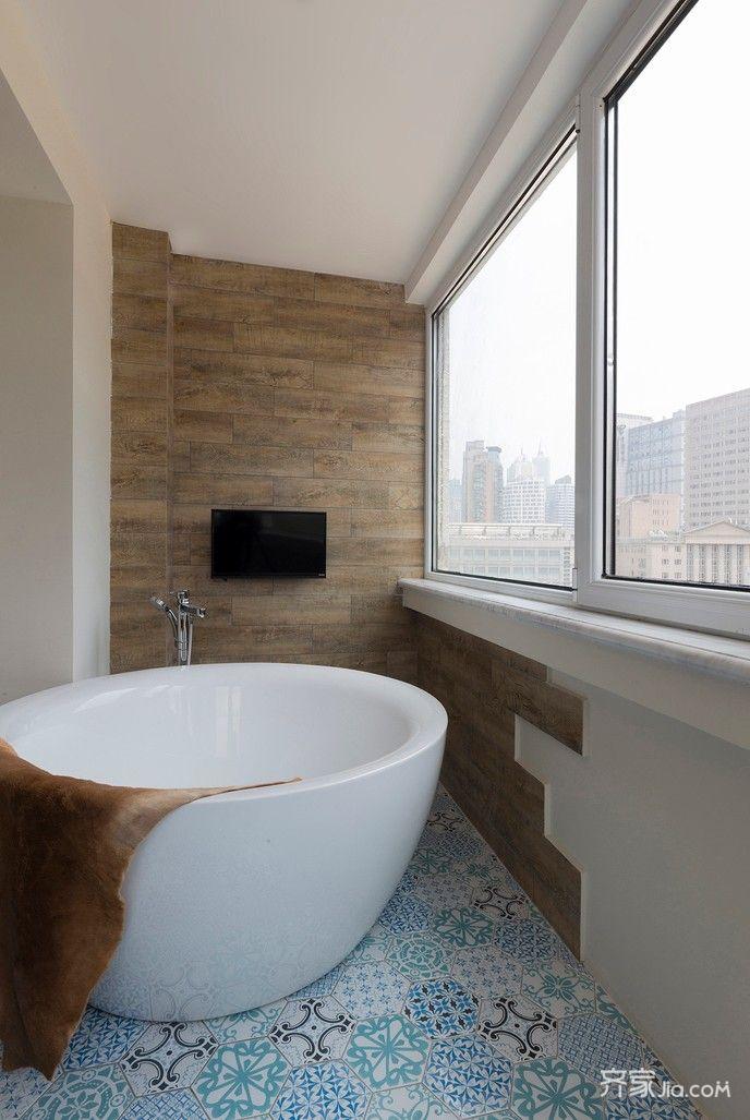 130平简约三居室装修卫生间设计图