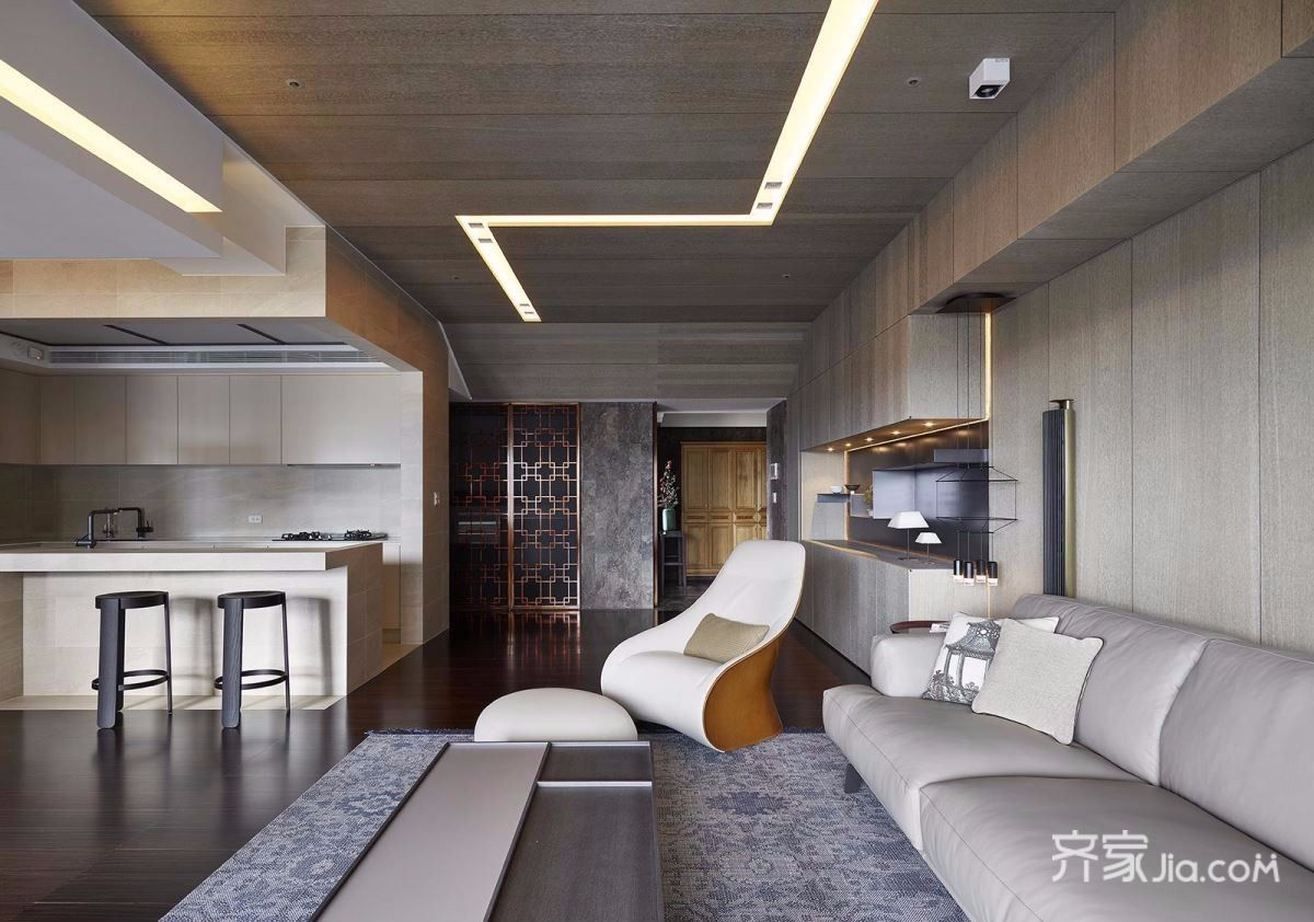 大户型混搭风格客厅装修设计效果图