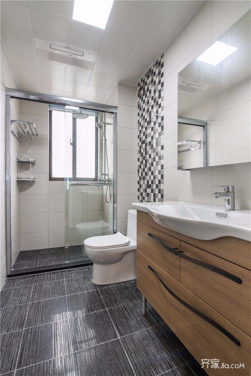现代简约风四居室卫生间装修效果图