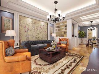 108平美式风格二居装修效果图