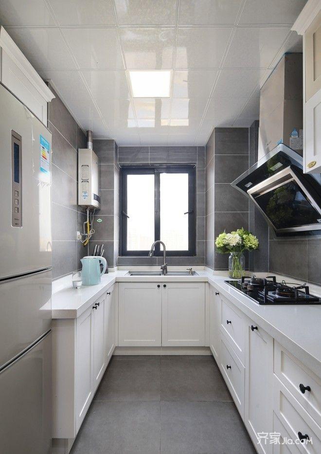 简约北欧风三居厨房装修设计图
