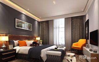 130平米现代风格卧室装修效果图