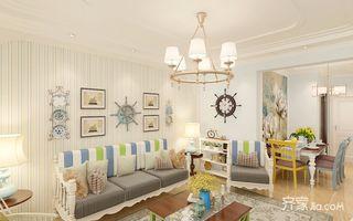 110㎡地中海二居室沙发背景墙装修效果图