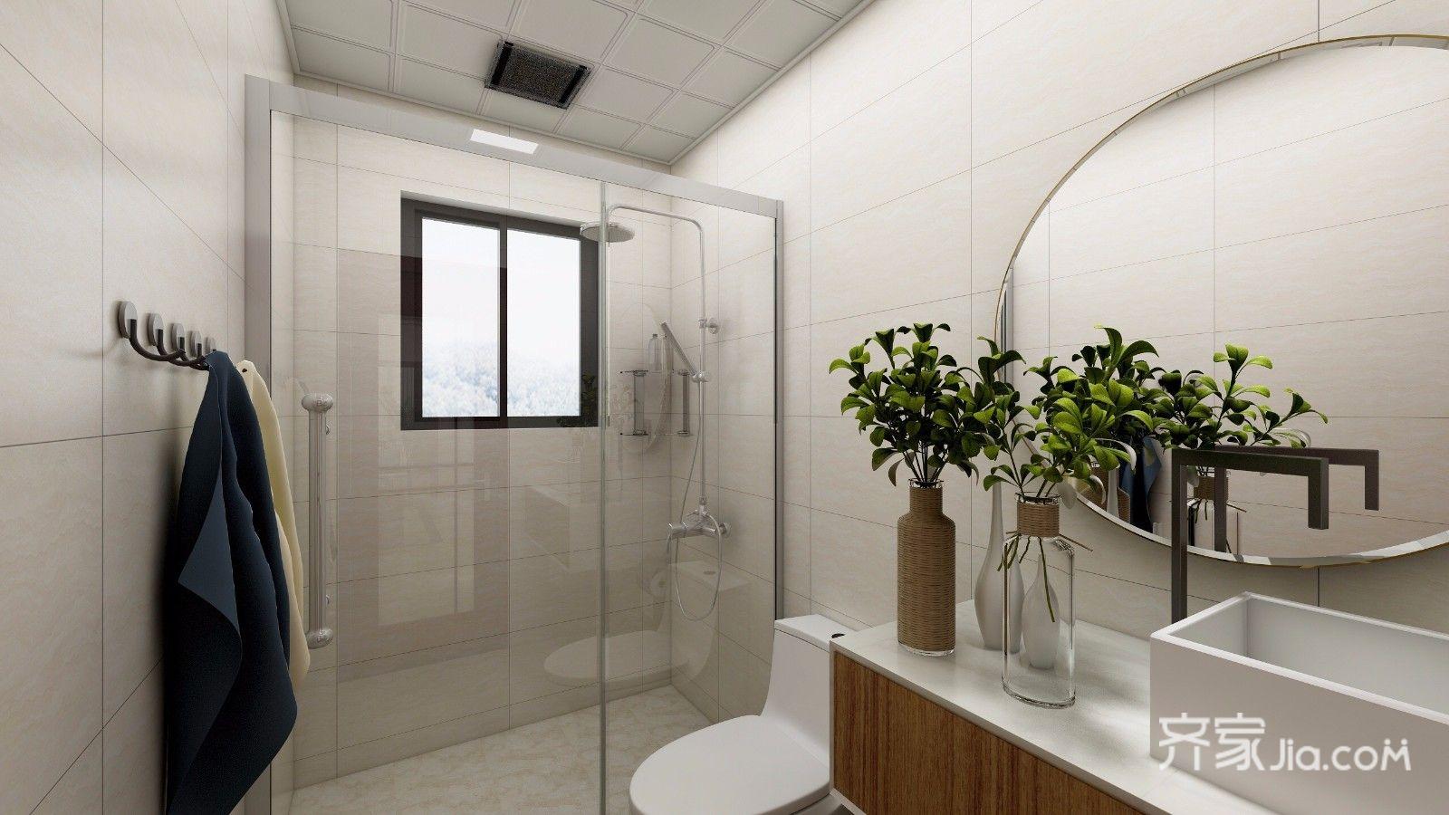 134平米中式风格卫生间装修效果图