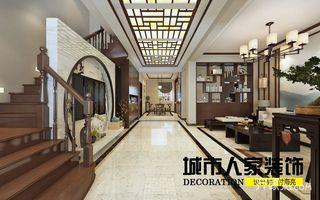220㎡新中式复式装修客厅过道