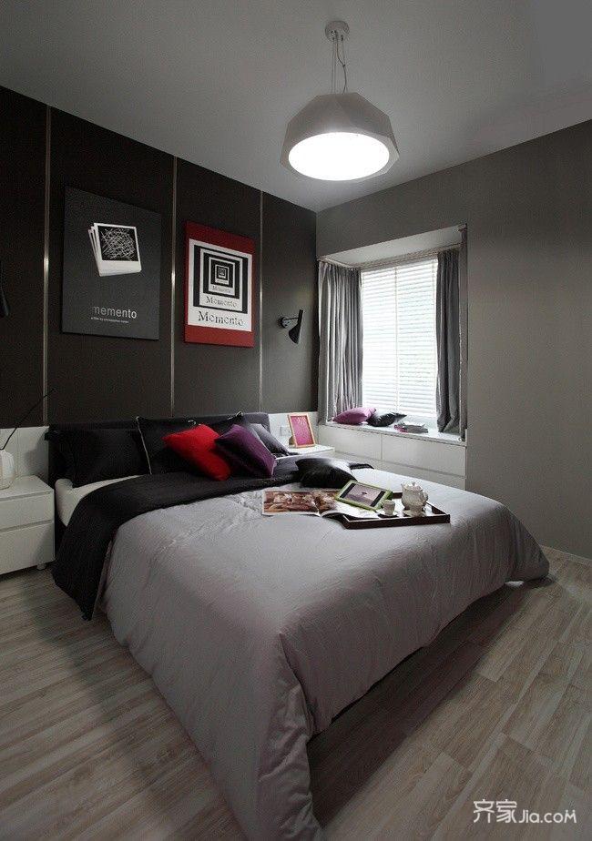 120平现代简约风格卧室装修效果图