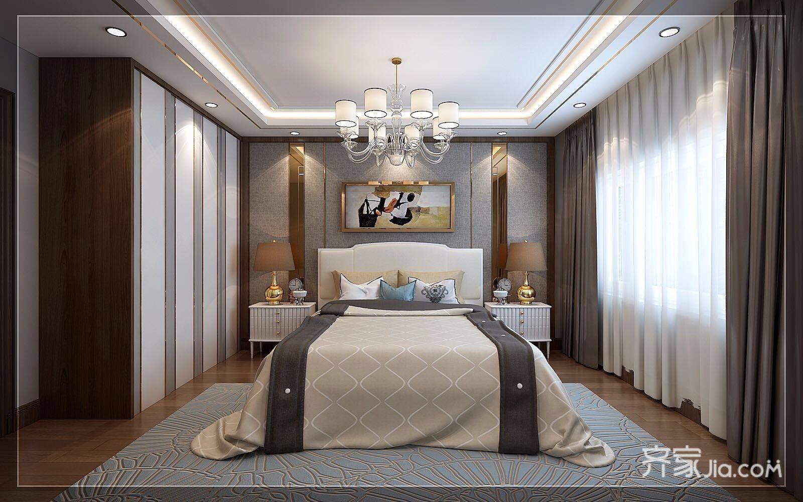 现代奢华复式三居卧室装修效果图