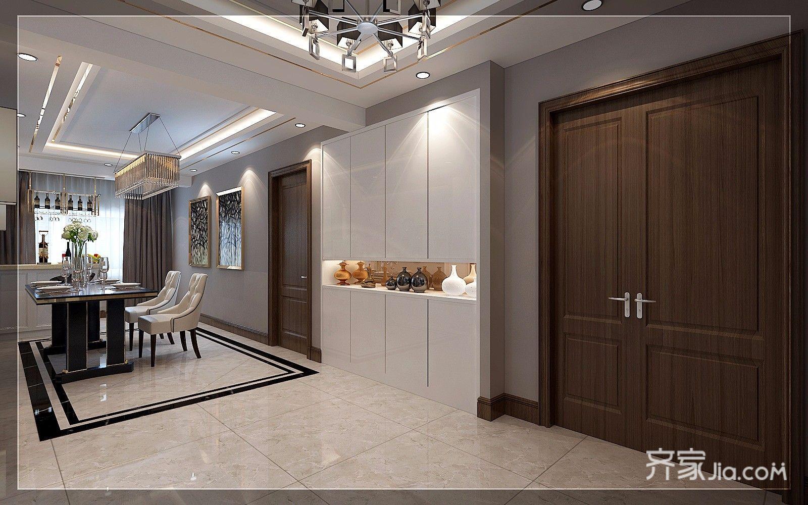 现代奢华复式三居餐厅装修效果图
