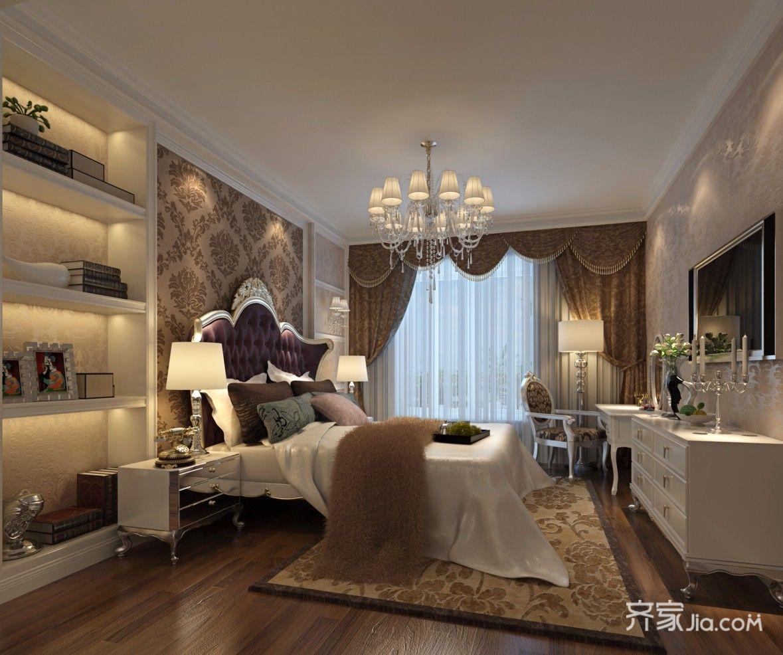 简欧风格四居卧室装修设计图