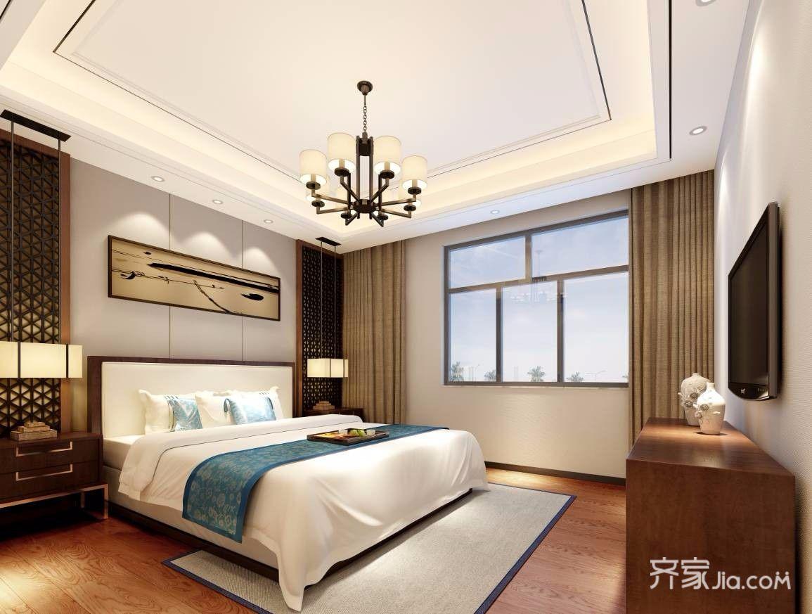 140平米新中式风格卧室装修效果图