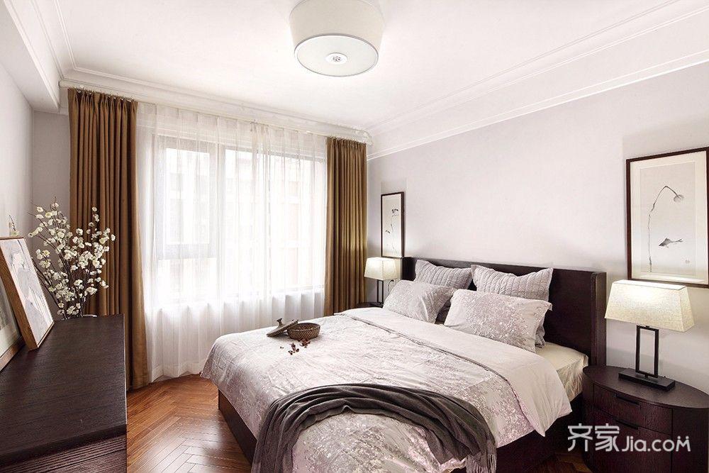 125平简约中式三居卧室装修设计图