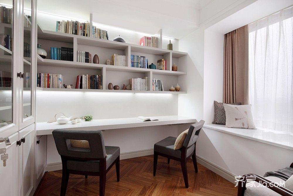 125平简约中式三居书房装修设计图