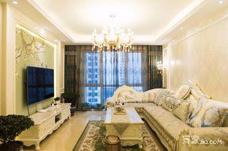 110平欧式风格三居装修设计图