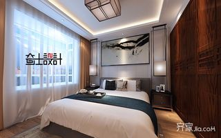130平米新中式风格卧室装修效果图