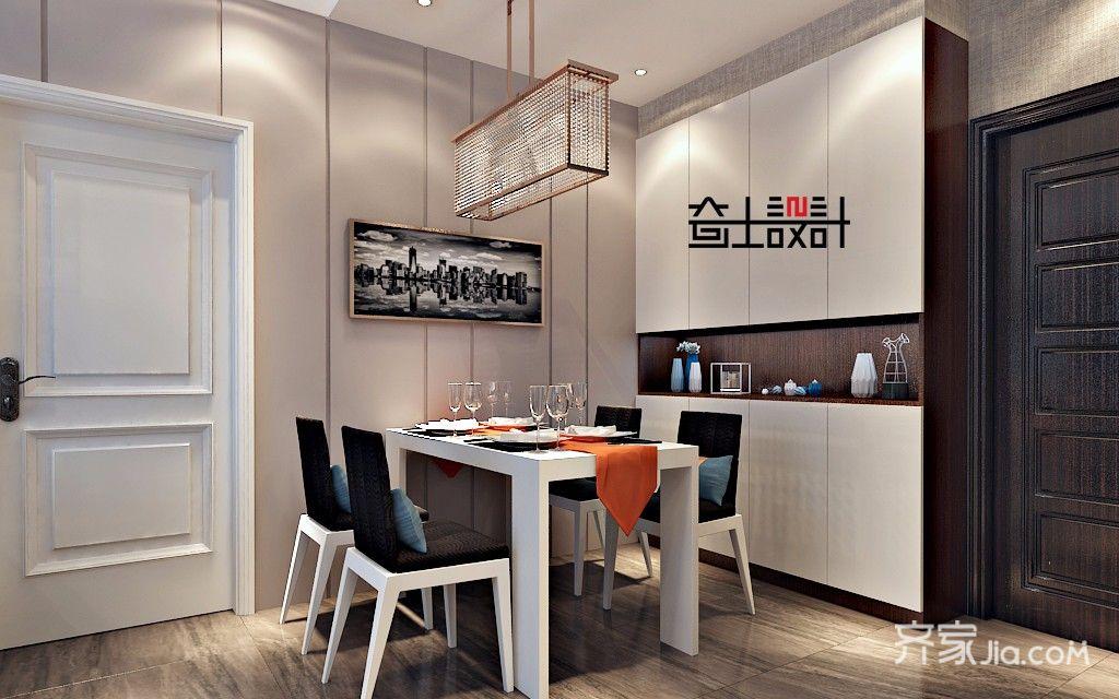现代简约小户型餐厅装修效果图