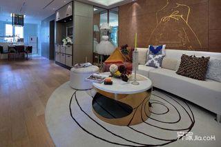 98平现代简约二居室装修效果图