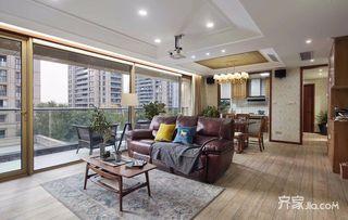 145平现代美式三居装修设计图