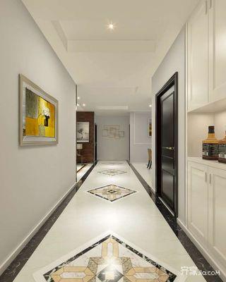现代简约风格三居室过道装修效果图