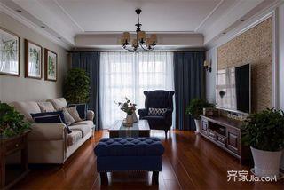 140平米美式三居装修效果图