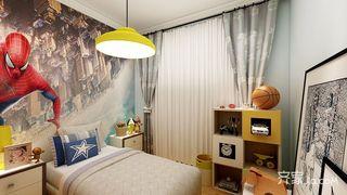 北欧风格三居室男孩房装修效果图