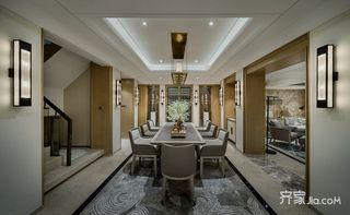 360平米新中式别墅餐厅装修效果图