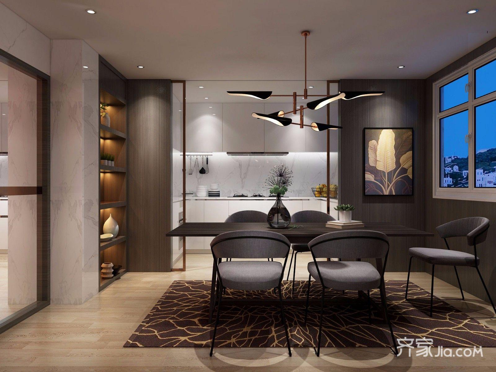 欧式别墅装修餐厅设计效果图