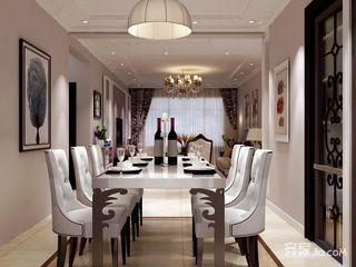 138平简欧三居室餐厅装修效果图
