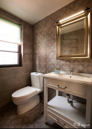混搭风三居室装修卫生间效果图