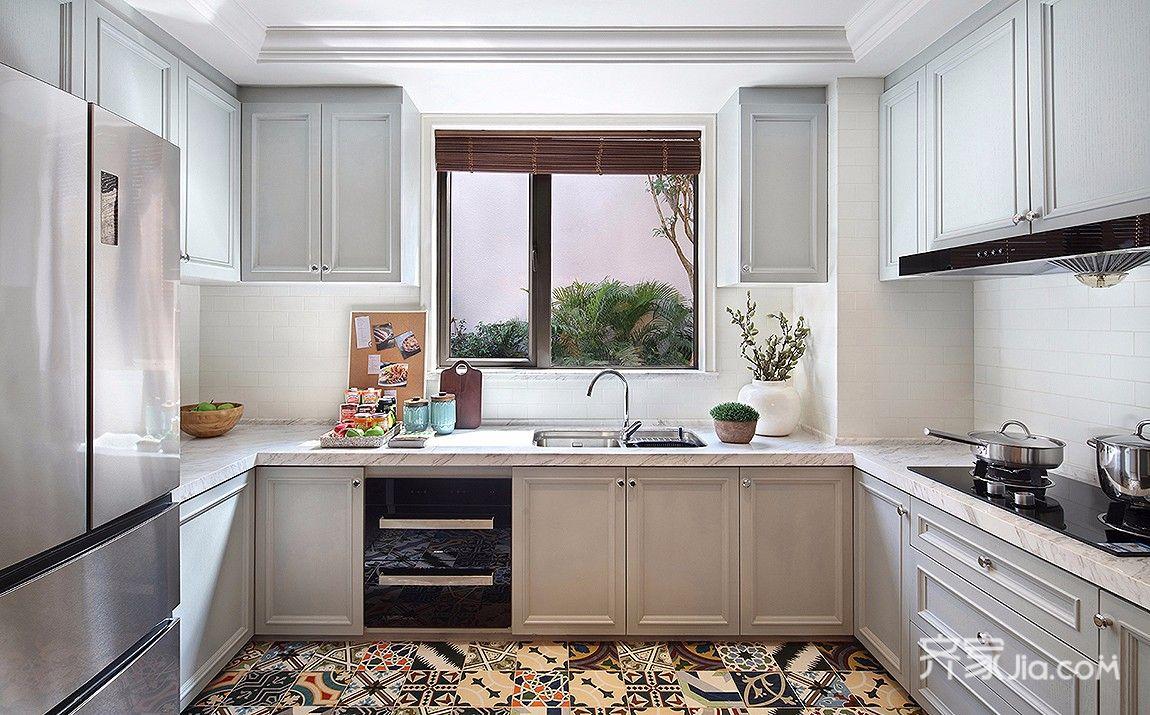 大户型简美风格装修厨房搭配图