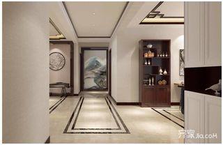 新中式风格四居装修过道设计图