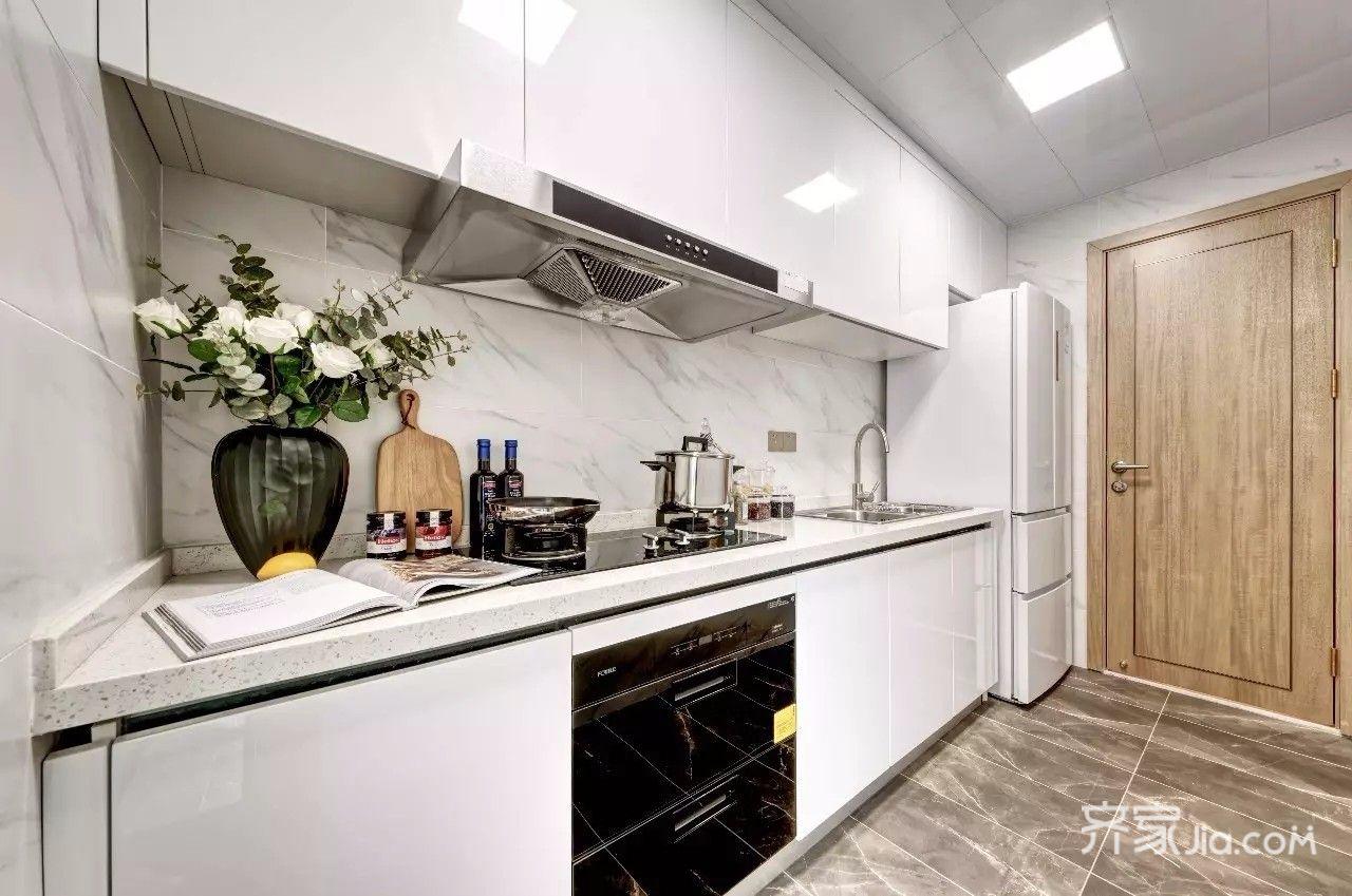 现代简约时尚二居室厨房装修效果图