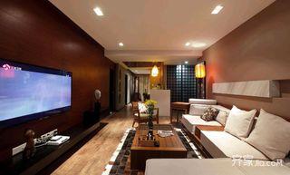 中式混搭三居客厅装修设计效果图