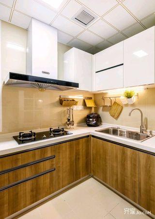 日式风格二居室厨房装修设计效果图