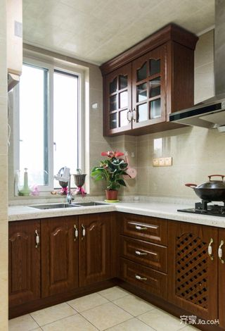 110平米欧式风格厨房装修效果图