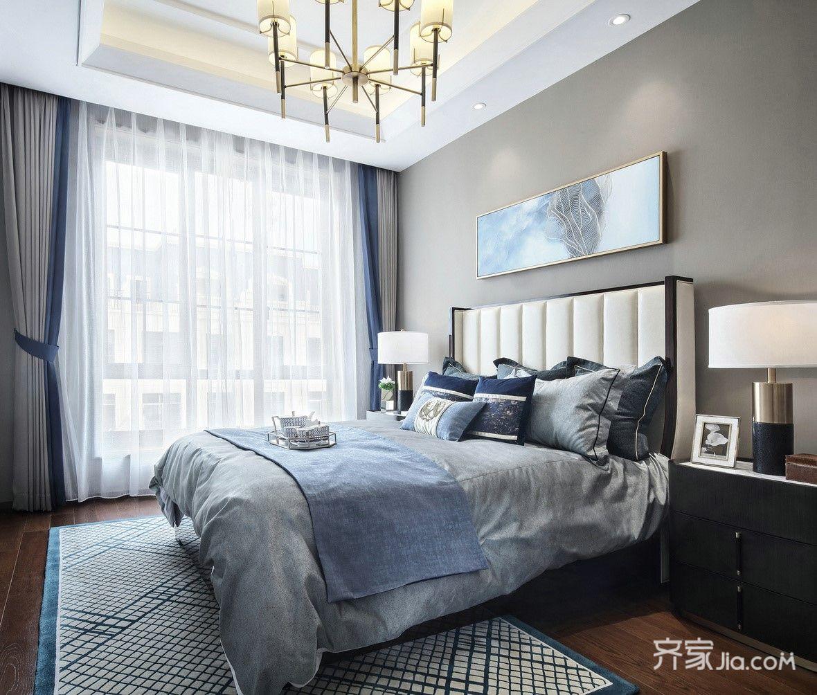 现代奢华复式装修卧室设计效果图