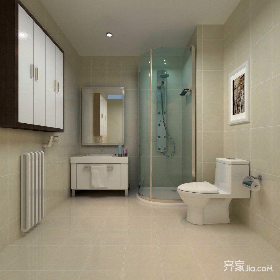 现代中式简约三居卫生间装修效果图