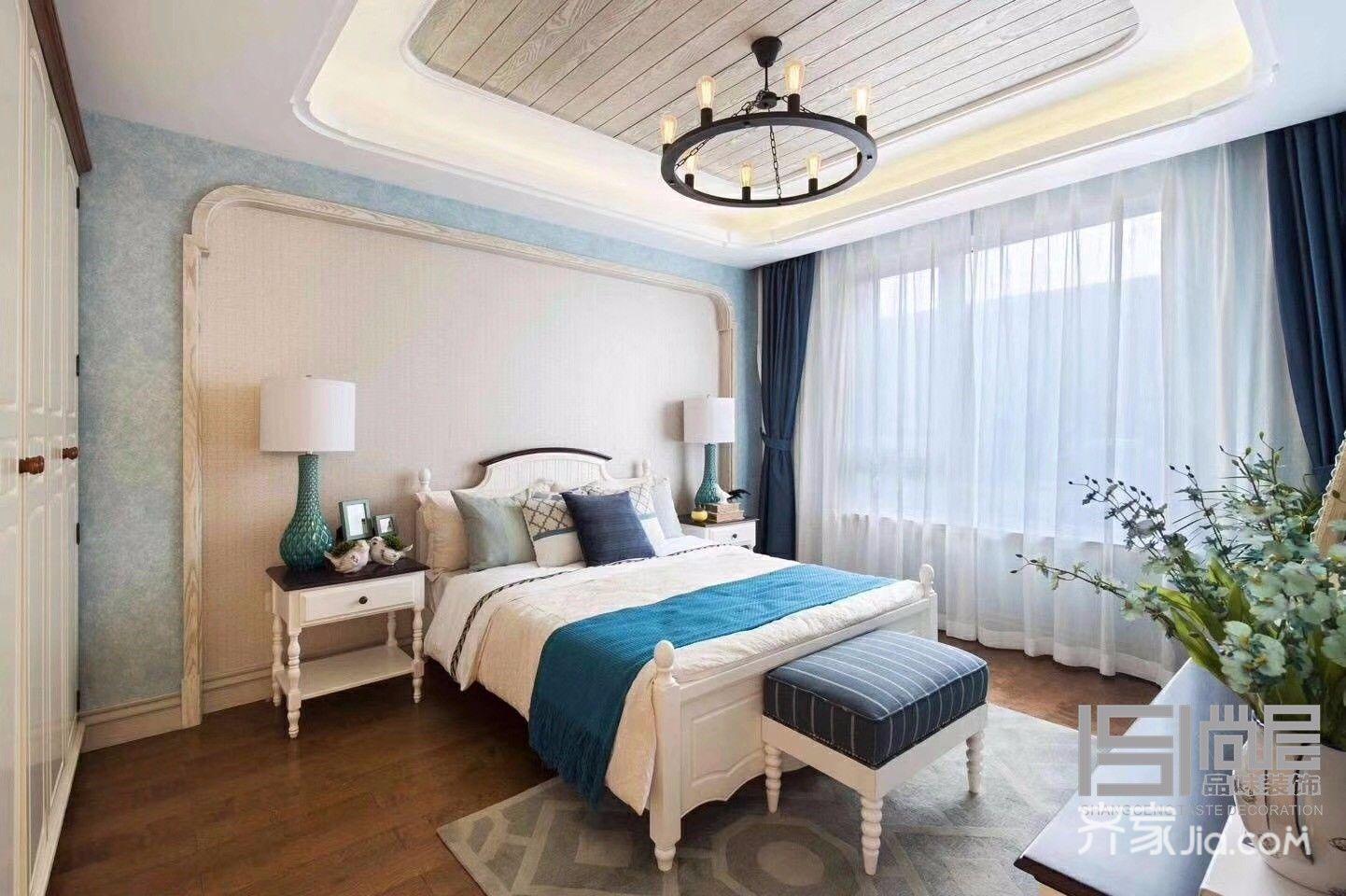 110㎡地中海风格装修卧室效果图