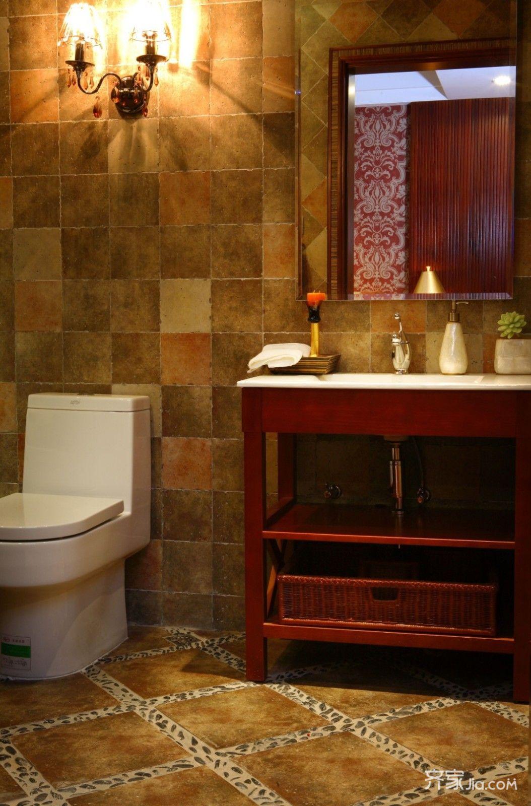 东南亚风格三居室卫生间每日首存送20