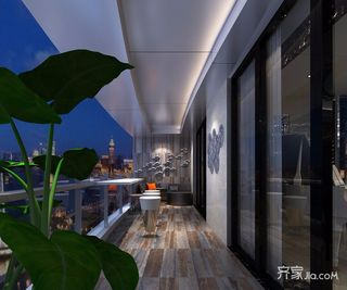 300平现代奢华风格阳台装修效果图